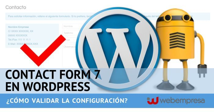 Contact Form 7 en WordPress