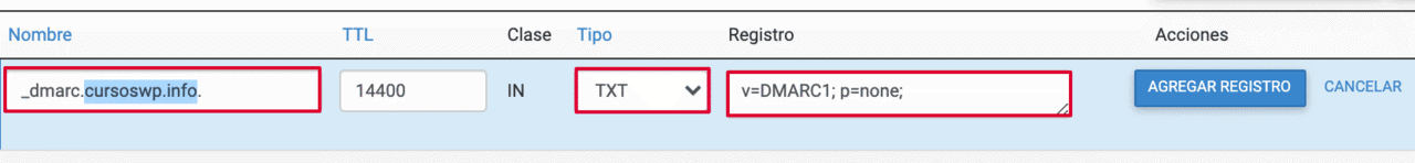 dmarc registro dns