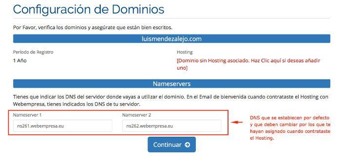 DNS por defecto