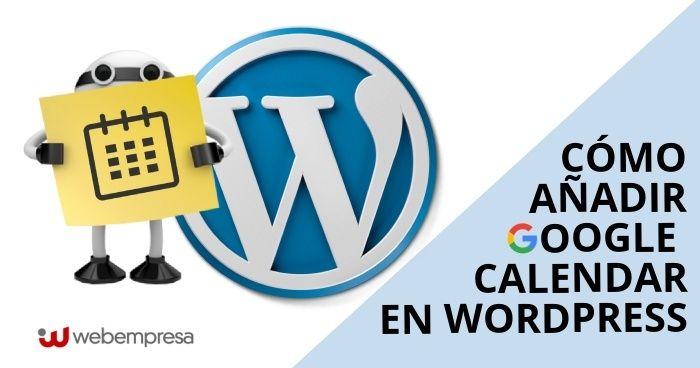 Google Calendar en WordPress
