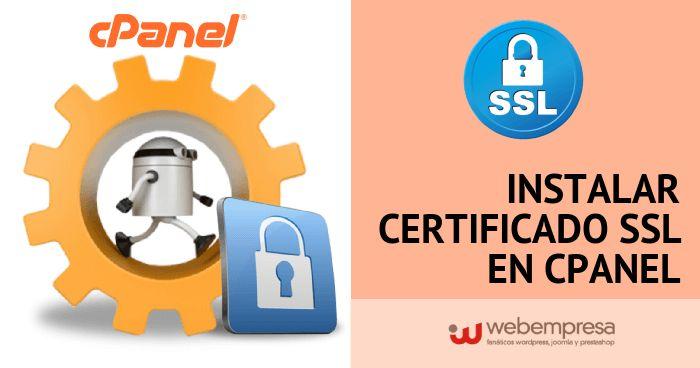 Instalar Certificado SSL en cPanel