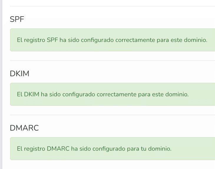validación spf dkim y dmarc mailrelay