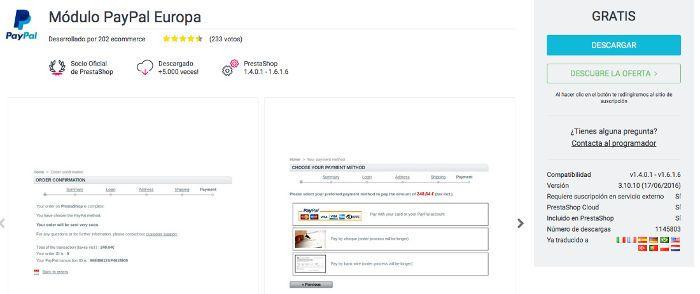 Actualizar Paypal en PrestaShop