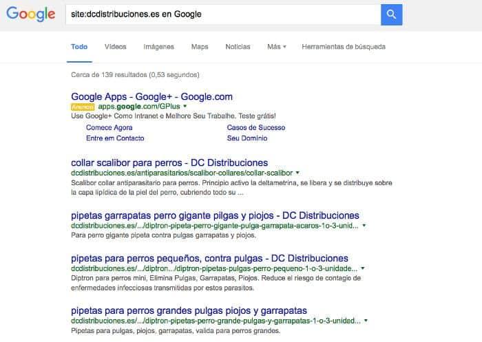 site:tu-dominio.com en Google