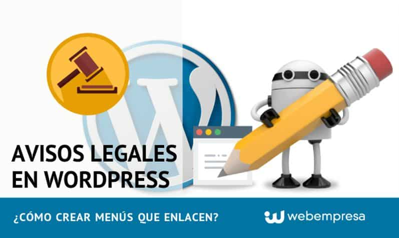 Avisos Legales en WordPress