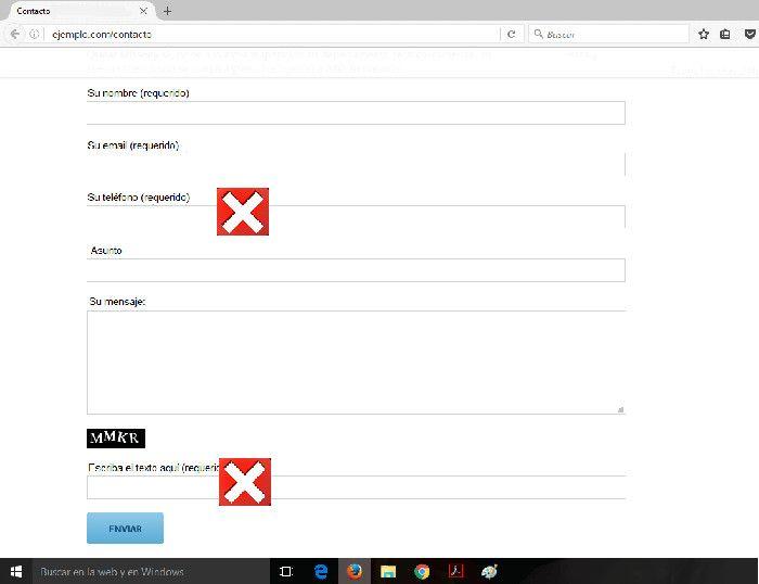 Evita solicitar información personal en el formulario de contacto