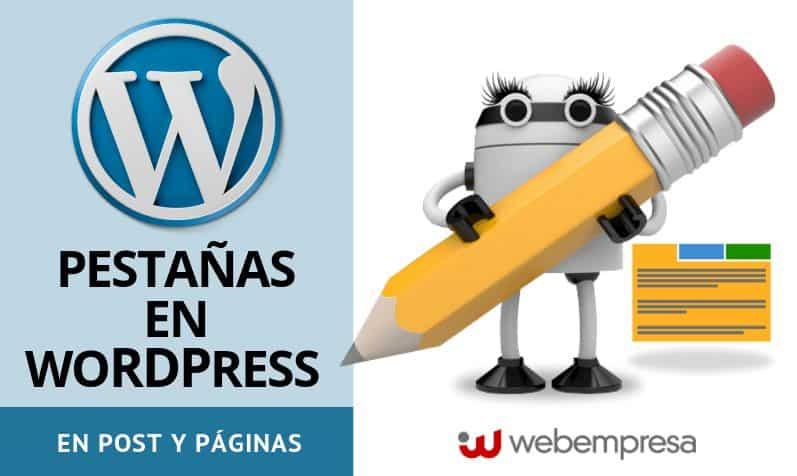 Pestañas en WordPress