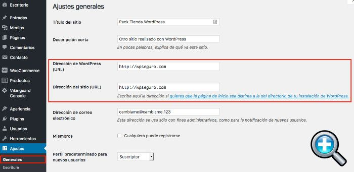 Ajustes Generales en WordPress