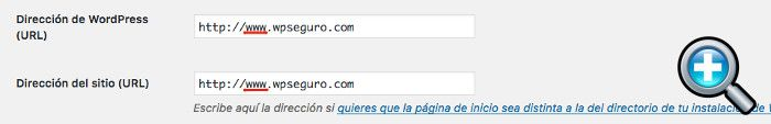 URL con alias www