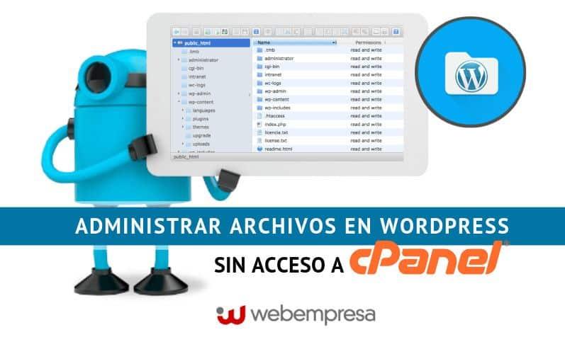 Administrar Archivos en WordPress