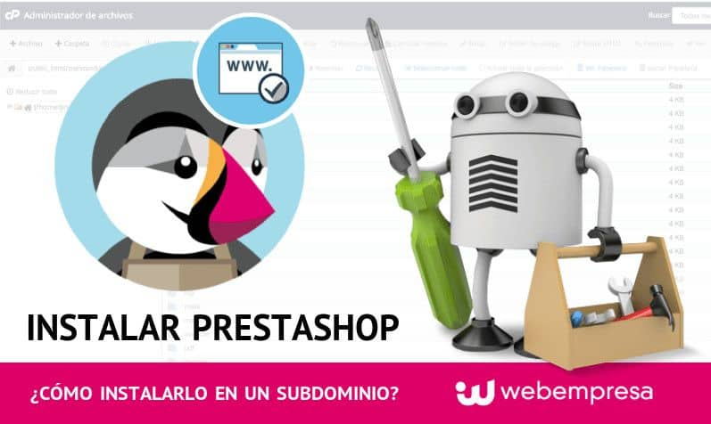 Instalar PrestaShop en un subdominio de tu Hosting