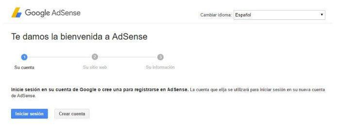 Registro Google AdSense