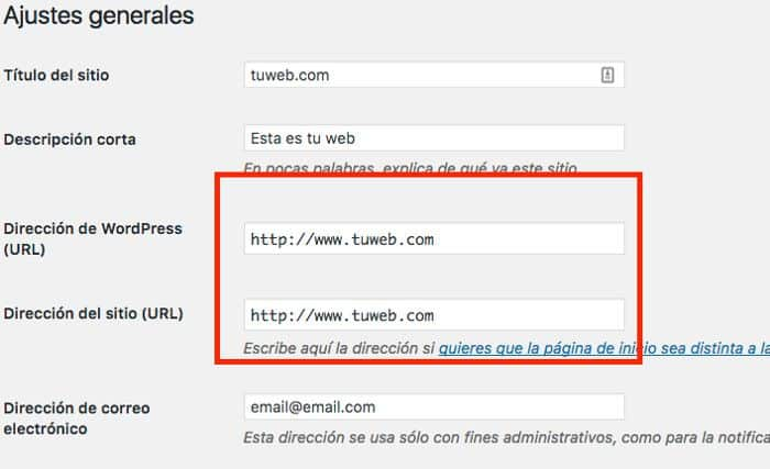 Site URL