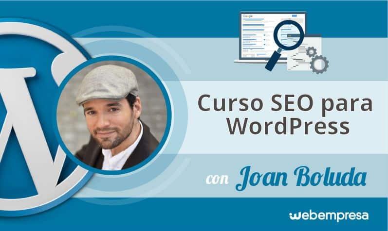 Curso seo para WordPress con Joan Boluda