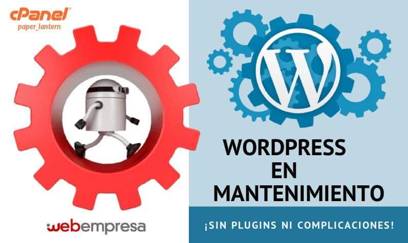 WordPress en Mantenimiento