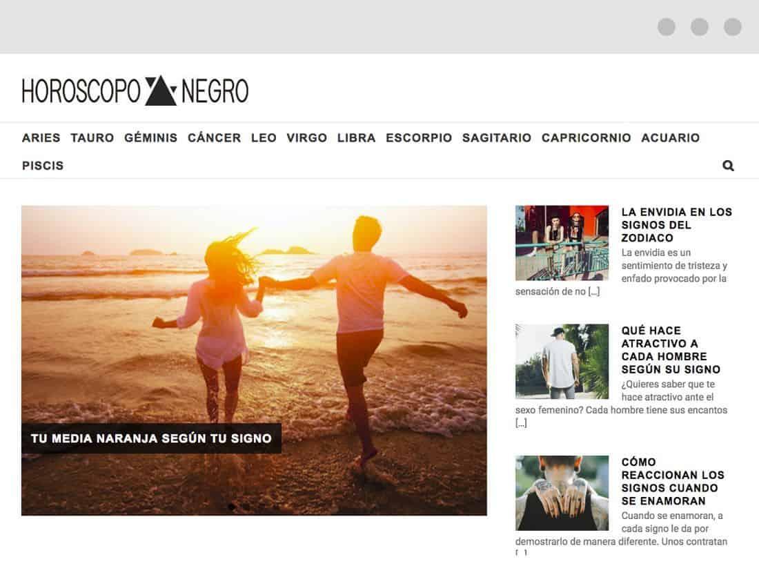 Horoscopo Negro web