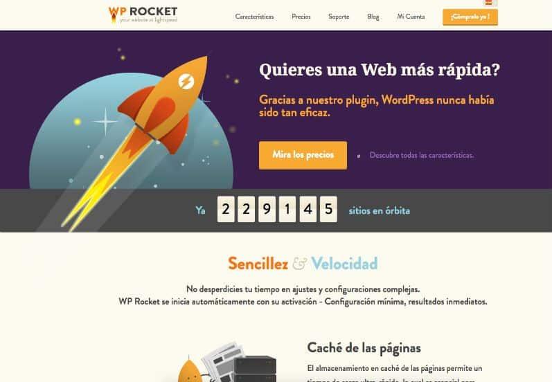 Web Oficial del plugin WP Rocket