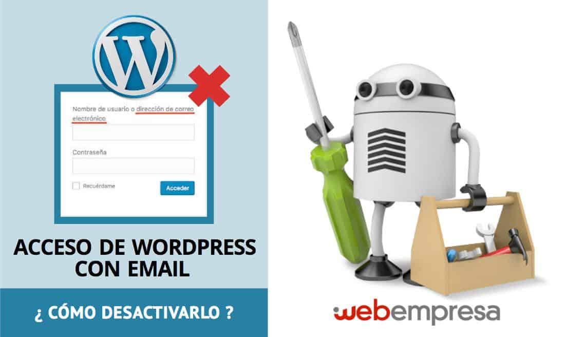 Acceso de WordPress