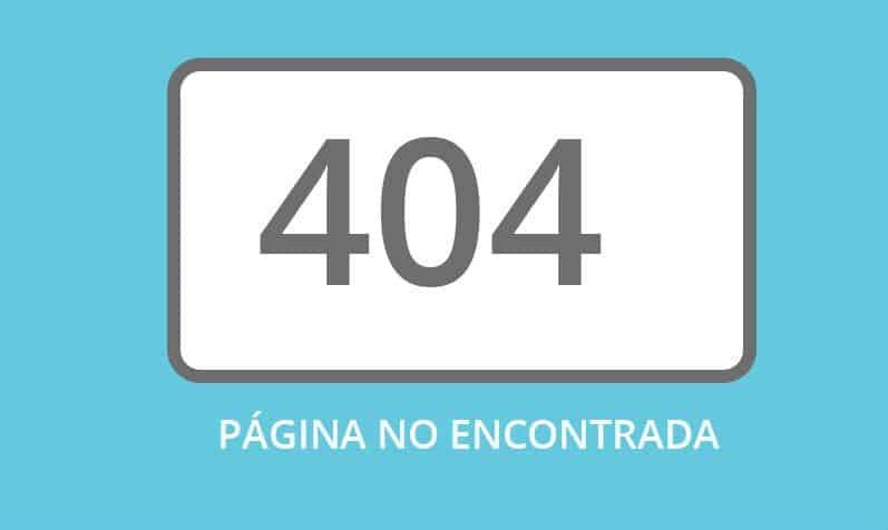 Página de error 404 en español