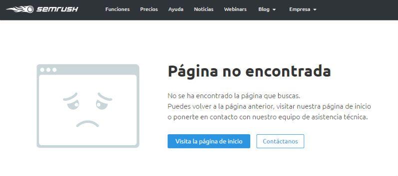 Ejemplo de página de error 404 optimizada
