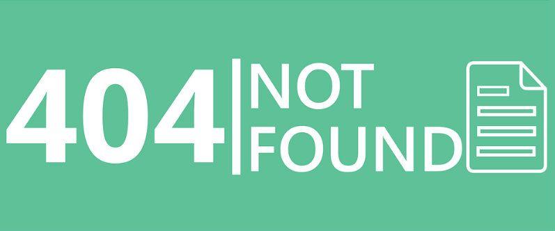 Ejemplo de página de error 404