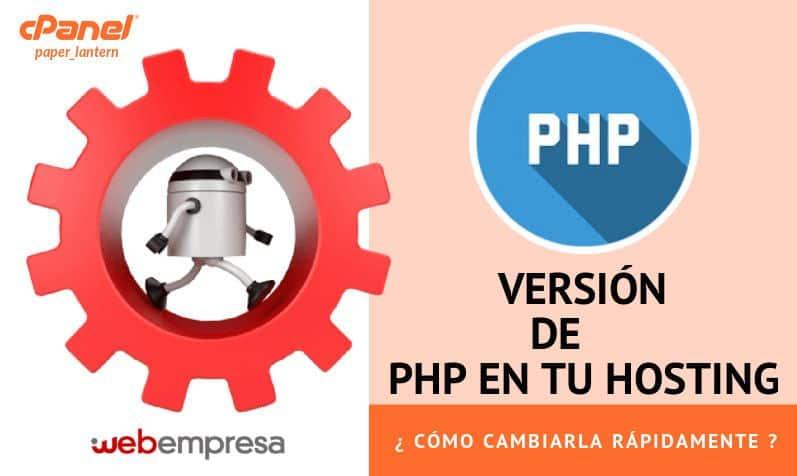 Versión de PHP en tu Hosting