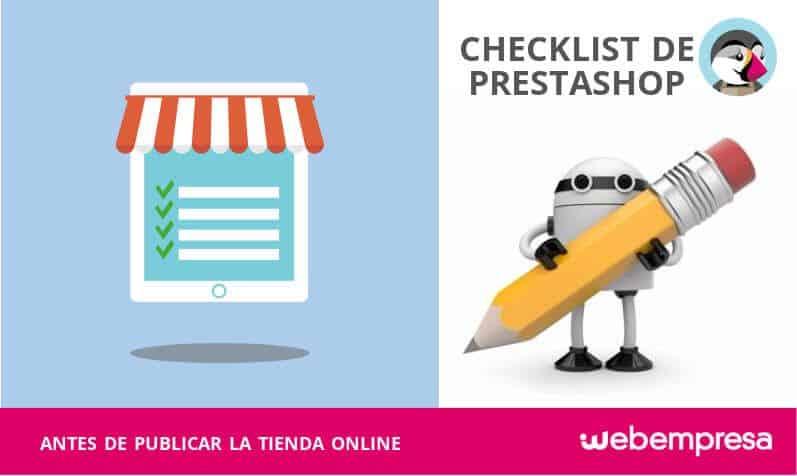 Checklist de PrestaShop antes de publicar la tienda online