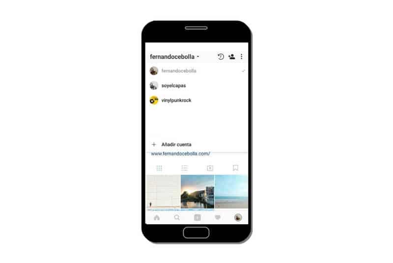 Crear una cuenta desde el móvil