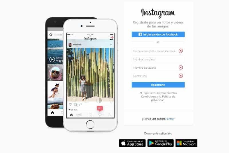 Entrar en Instagram