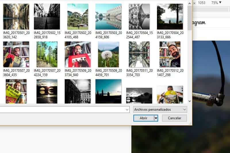 Subir foto desde PC paso 2