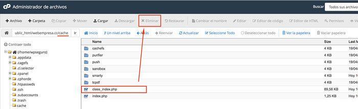 Eliminar class_index