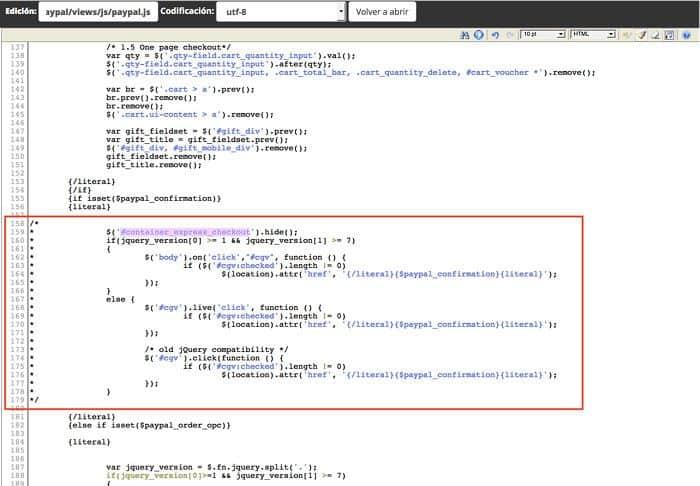 Comentar código