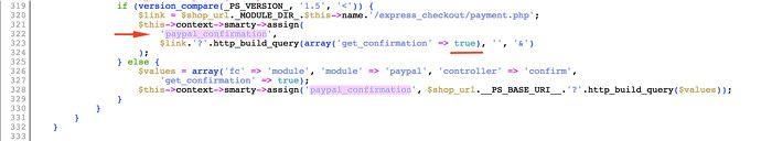 Variable en paypal.php