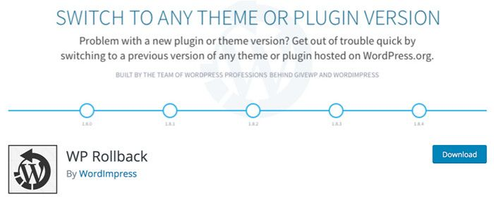 Plugin WP Rollback