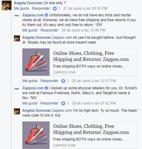 Facebook de Zappos
