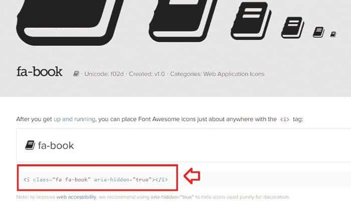 Ejemplo: Iclass fontawesome con iconos para WordPress