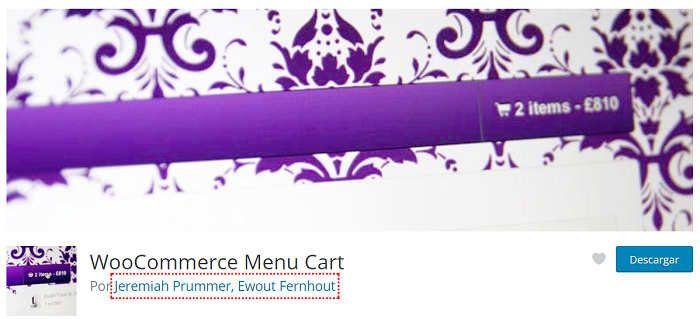 Plugin para WooCommerce menú bar cart