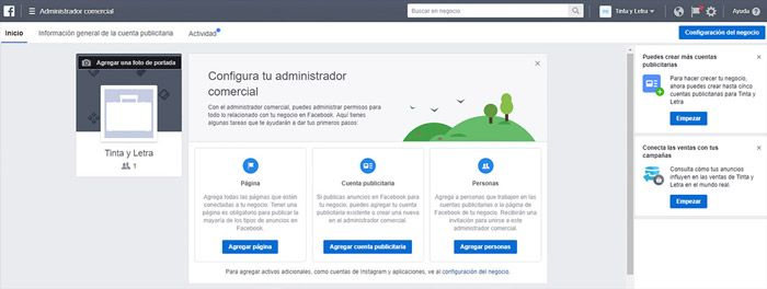 Plataforma Facebook business manager