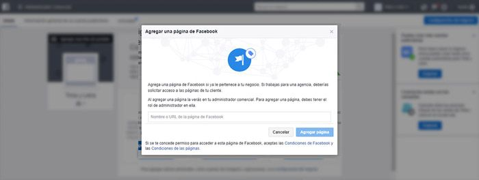 Reclamar página Facebook business