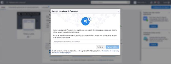 Reclamar página Facebook business