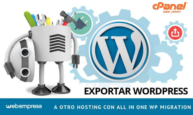 Exportar WordPress