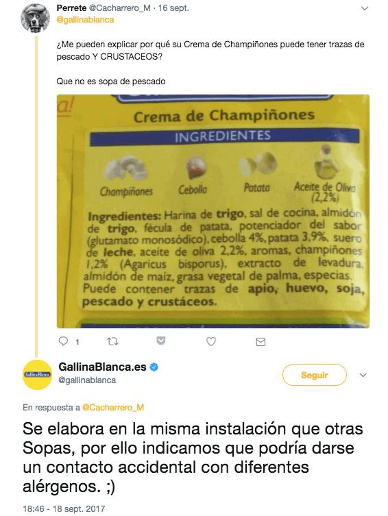 Twitter de Gallina Blanca