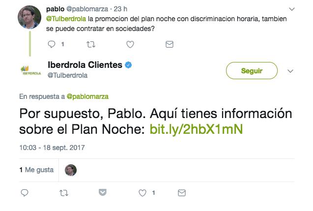 Twitter de Iberdrola