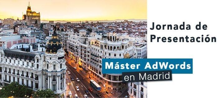 Master en Madrid del nuevo Adwords