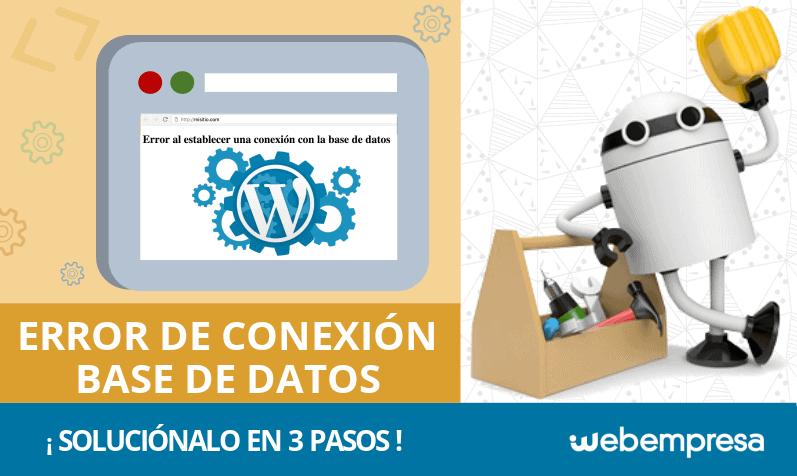 Solución al error de conexión con la base de datos en WordPress