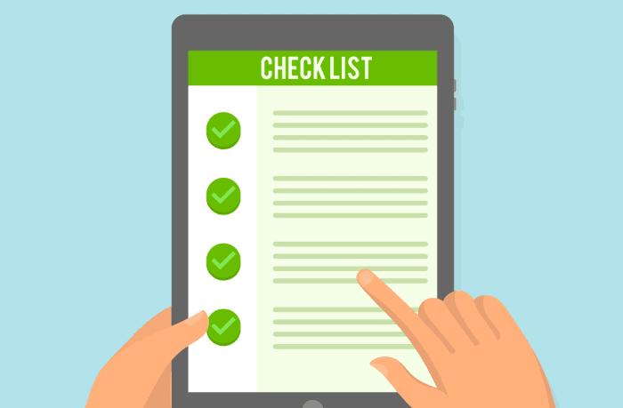 Checklist áreas de una auditoría SEO