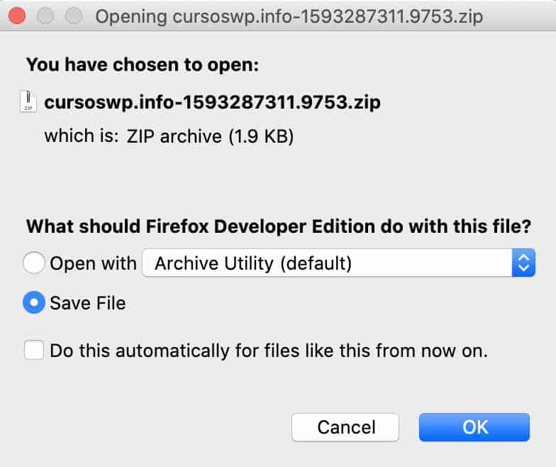 Descargar archivo generado