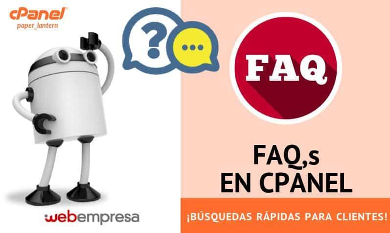 FAQs en cPanel