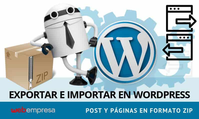 Exportar Importar Post y Paginas de WordPress