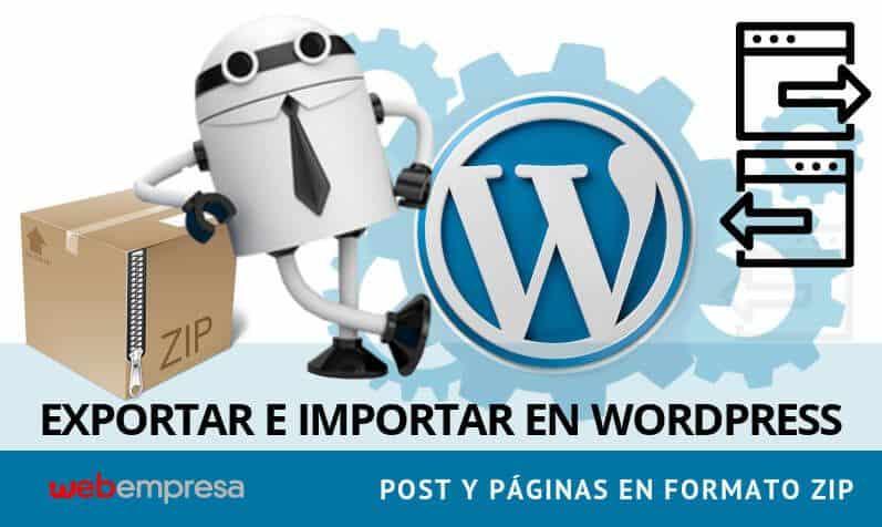 Exportar Importar Post y Paginas de WordPress